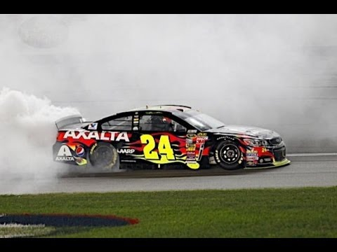 NASCAR:Final Laps Jeff Gordon wins at Kansas