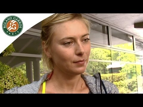 Maria Sharapova, superstitious? - 2014 French Open