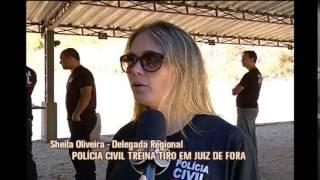 Policiais civis s�o treinados para usar nova arma em Juiz de Fora
