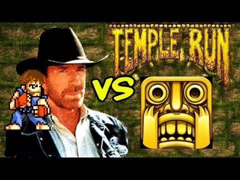 Chuck Norris vs Temple Run, There's only one person that can find the end of an endless running game: Chuck. T-SHIRTS: http://daneboe.spreadshirt.com FOLLOW ME: TWITTER: http://twitter....