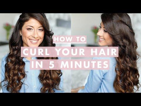 How to Curl Your Hair in 5 Minutes - Hogyan csinálj göndör hajat 5 perc alatt