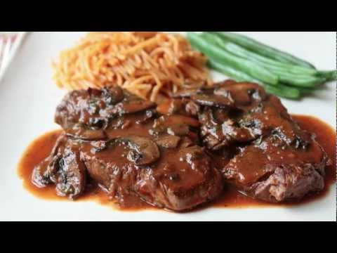 Beef Medallions with Caramelized Tomato Mushroom Pan Sauce - Beef Tenderion Medallions, Learn how to make a Beef Medallions with Caramelized Tomato Mushroom Pan Sauce Recipe!