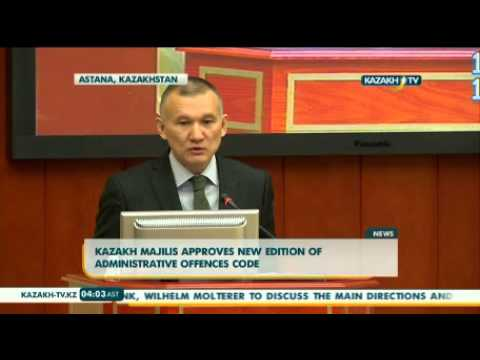 Kazakh Majilis approves new edition of administrative offences code