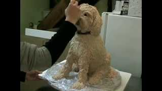 Make A Sculpted Dog Cake