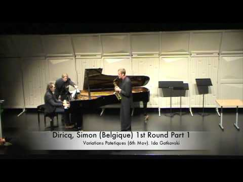 Diricq, Simon (Belgique) 1st Round Part 1