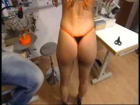 Blonde Beauty Tries On Small Thong Bikini