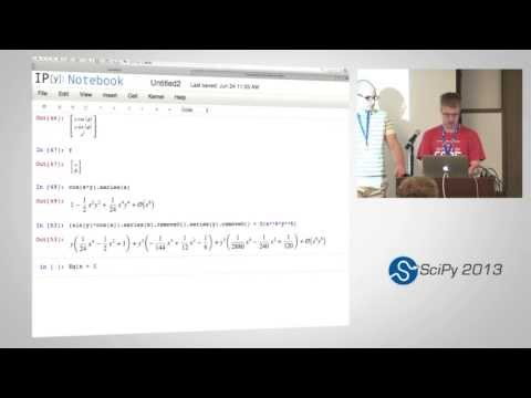 Image from Symbolic Computing with SymPy, SciPy2013 Tutorial, Part 6 of 6