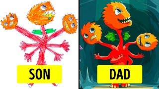 Parents Turned Their Kids' Drawing Into Masterpieces