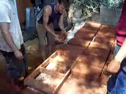 Ręczna produkcja cegieł z gliny