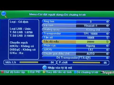 Hướng dẫn dò quét dành cho đầu VTC-HD01 và VTC-HD03