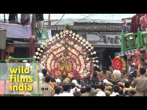 Grand celebration of Jagannath Rath Yatra in Puri