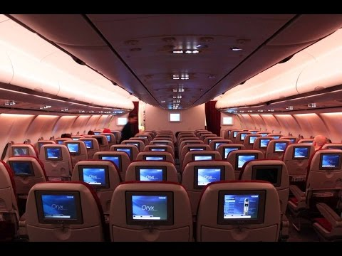 A340-600 Qatar Airways Economy Class I Doha - Paris I