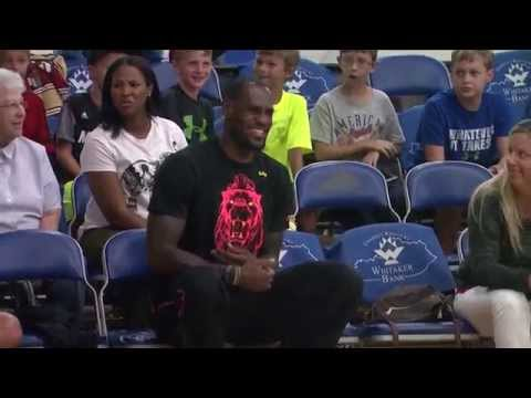 LeBron James visits Lexington