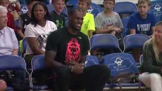 LeBron James visits Lexington (WKYT)