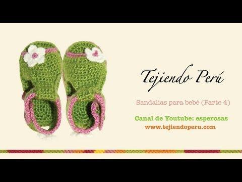 Sandalias para bebe tejidas a crochet Parte 4: acabados