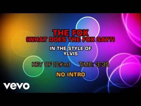 what does the fox say lyrics karaoke ylvis the fox