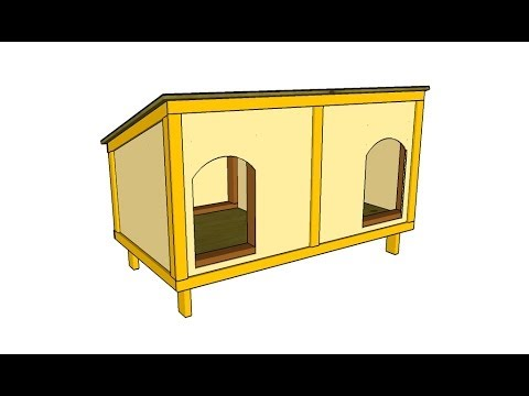 Gallery For Simple Double Dog House Plans