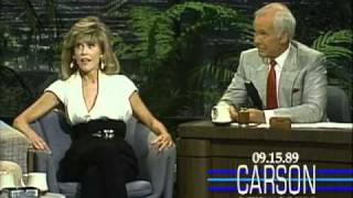 Johnny Carson: Jane Fonda on Zsa Zsa Gabor and her Pussy Cat, 1989