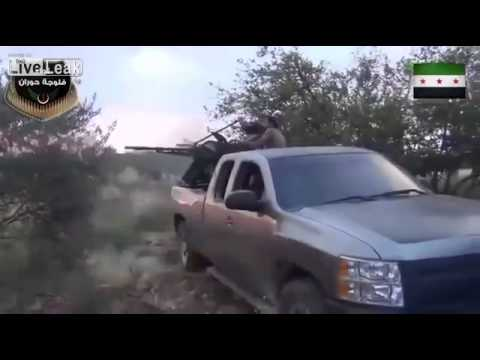 AA Gun Mounted In Pickup Truck In Syria - YouTube