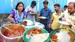 Hyderabadi Street Food Meals   Chicken Rice/Veg Rice/Chicken Chapathi @ 50 Rs Only   Best StreetFood