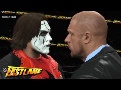 WWE Fast Lane 2015 - Sting vs Triple H Confrontation - Vigilante Returns! (WWE 2K15)