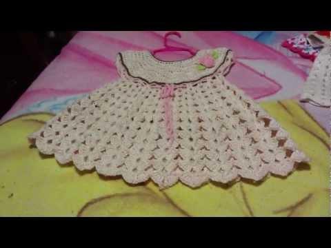 Vestidos para bebé niña en crochet paso a paso - Imagui