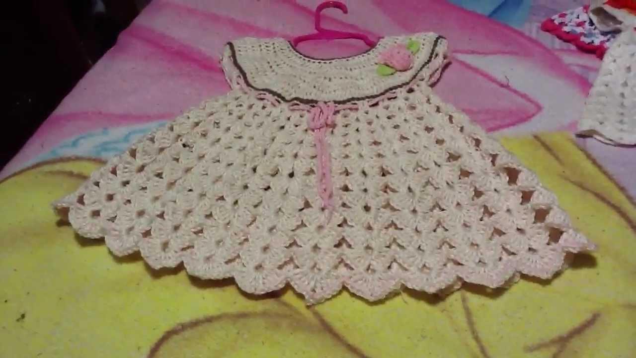 Vestido para bebe a ganchillo o crochet - YouTube