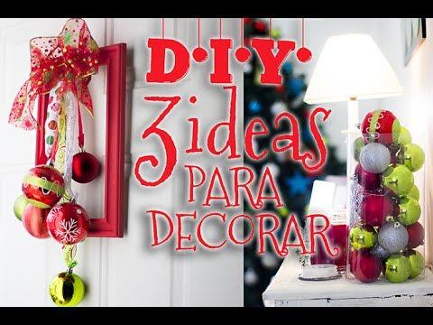 D i y 3 ideas facil y rapidas para decorar especial de - Decoracion de navidad para oficina ...