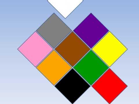 Boje, učimo boje, žuta, zelena, plava, crvena