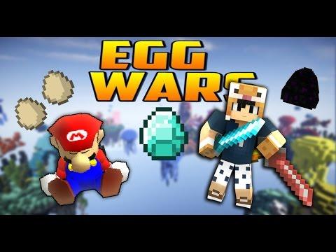 Minecraft Eggwars #7: Giải cứu MARIO ( pewaddles ) l CubeCraft