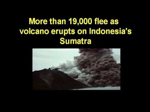 Indonesia's Mount Sinabung volcano spews pyroclastic smoke in Medan, Sumatra