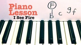 I See Fire 💥 Piano Lesson 💥 The Hobbit 💥 Ed Sheeran