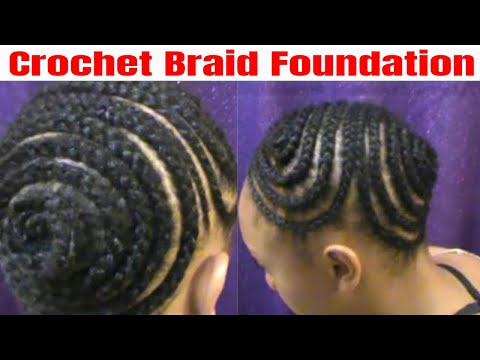 Crochet Braids Foundation For Ponytail Or Updo Youtube