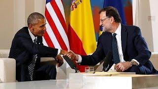 اوباما يلتقي راخوي ومظاهرة امام السفارة الاميركية تندد باتفاقية التبادل الحر عبر الاطلسي |
