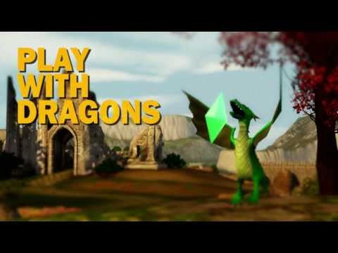 The Sims 3 Dragon Valley Launch Trailer, Discover a world inhabited by colorful elven Sims deeply rooted in centuries-old traditions, and where baby dragons not only exist amongst the residents, but...