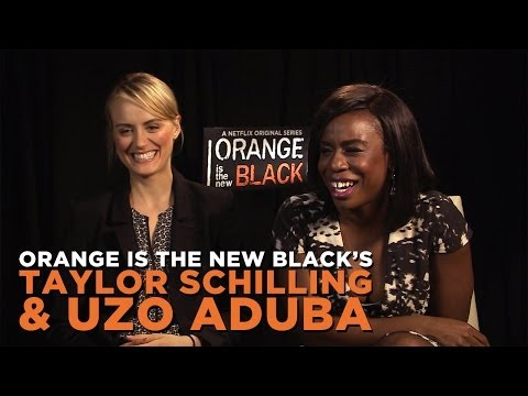 Orange Is The New Black's Taylor Schilling & Uzo Aduba Talk Prison Pop Stars