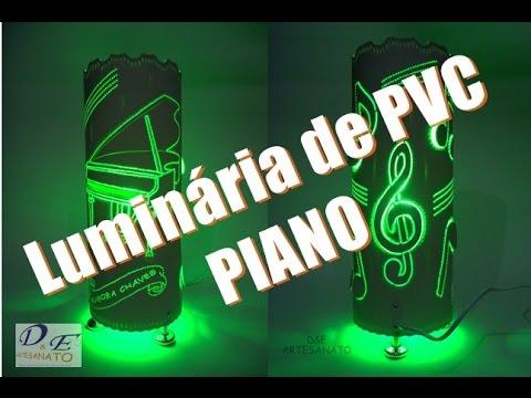 Luminaria piano em PVC