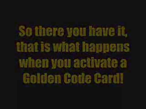 Club Penguin - Card Jitsu - Golden Code Card - Unlocked, I unlock this very very rare golden code card which is in every 1-18 packs of Series 2 card jitsu cards, I got mine in the second pack I bought litterly from...