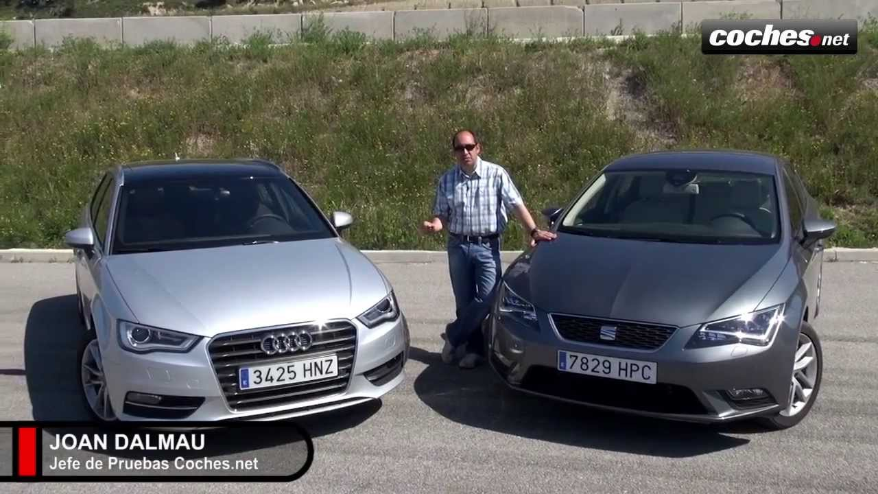 audi a3 sportback vs seat le n 1 6 tdi 105 cv prueba test review youtube. Black Bedroom Furniture Sets. Home Design Ideas