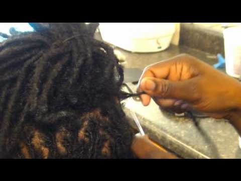 Taraji Braid Studio) Dread Interlocking Tutorial - YouTube