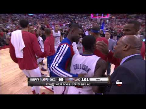 Final play of Clippers vs. Thunder, Game 4