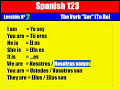 Spanish Lesson. 2. The Verb