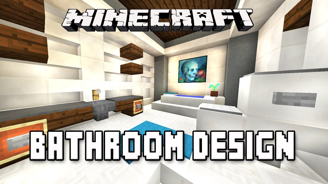 Minecraft Tutorial How To Make A Modern Bathroom Design Modern House Build Youtube