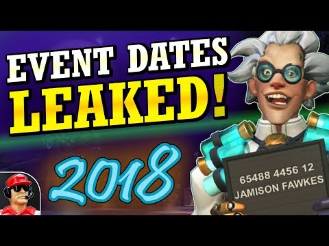 LEAKED Start Dates!!! 2018 Halloween & Winter Events! (Overwatch News)