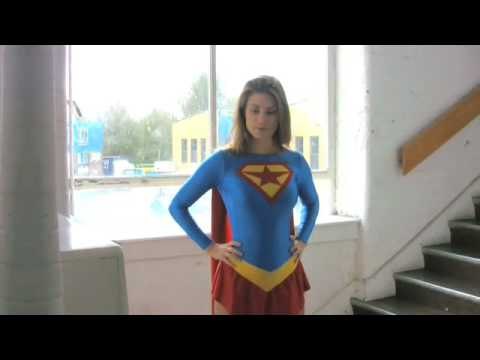 Superheroine Supergirl in the Forger