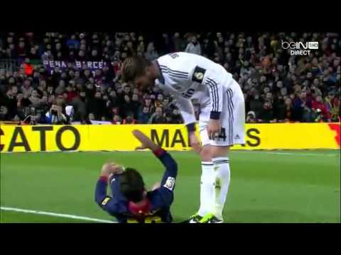 Jordi Alba winning an Oscar in diving! FC Barcelona vs. Real Madrid 26/02/2013 (HD)