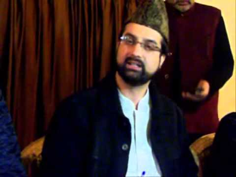 Mirwaiz Addressing Press Conference against the allegations made by Geelani Saheb