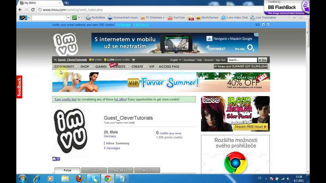How to get the imvu letter badges! - YouTube