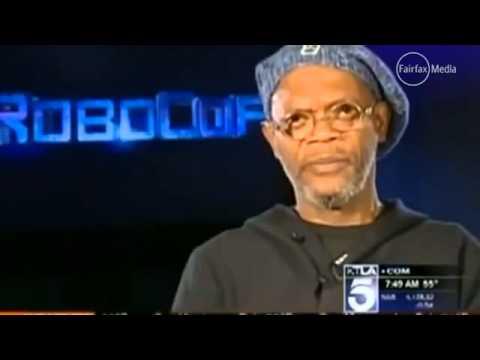 Confuses Samuel L  Jackson with Laurence Fishburne live on air KTLA