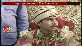 CM KCR attends his domestic worker Satish marriage in Hyde..